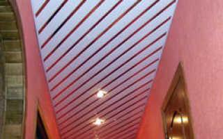 Замеряем высоту реечного потолка