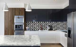 Натяжной потолок для кухни в стиле модерн