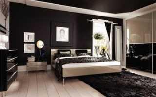 Использование черного глянцевого потолка в дизайне ванной
