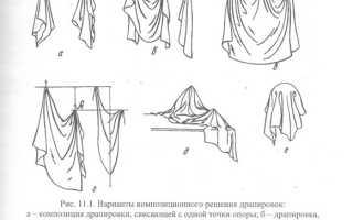 Различные формы драпировок