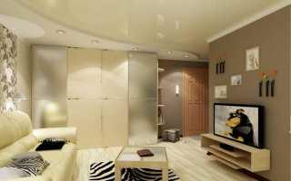 Вариант для больших помещений — многоуровневый натяжной потолок