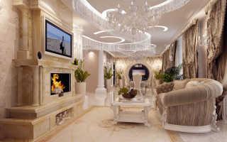 Проект гостиной в стиле барокко