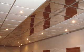 Чертеж кассетного потолка