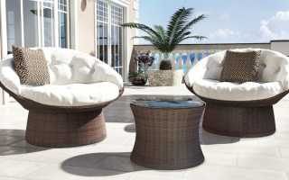 Круглое кресло из ротанга (45 фото): выбираем модели с подушками и без, синтетический и натуральный ротанг