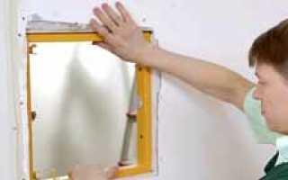 Оптоволокно помещено в специальный гипсокартонный короб с люком