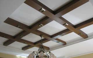 Металлические фальш-балки на потолок