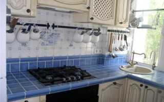 Кафельная кухонная столешница своими руками (39 фото): пошаговая инструкция