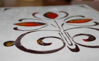 Подготовка трафарета для росписи