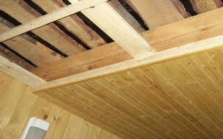 Конструкция подшивного потолка