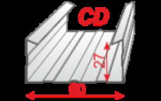 Монтаж CD-профилей