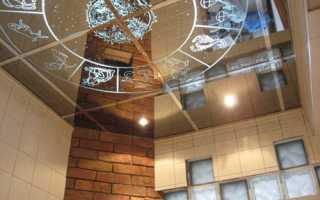 Зеркальные потолки. Оттенки, размеры