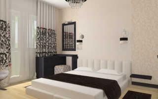 Стильный одноуровневый потолок в спальне в стиле модерн