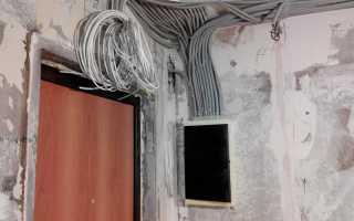 Прокладка проводов с использованием гофры