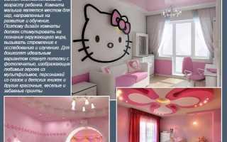 Покраска потолка в комнате для девочки