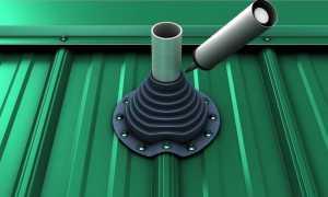 Трубка поверх профлиста: как заделать зазор между трубой и профлистом в сауне? Как мне его запечатать? Как вырезать дымоходный проем в профлисте?