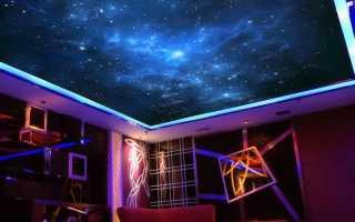 Натяжной потолок Звездное небо – оригинальное дизайнерское решение