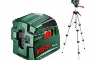 Использование лазера с перекрестными лучами BOSCH PCL 10 для нанесения разметки