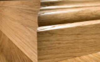 Крепление деревянного плинтуса саморезами
