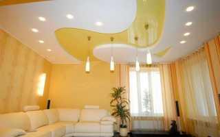 Как можно расположить светильники на натяжном потолке