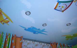 Герои мультиков на потолке в детской