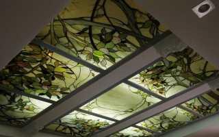 Зеркальный потолок из настоящего стекла