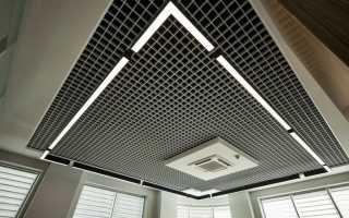 Подвесной потолок Грильято в квартире
