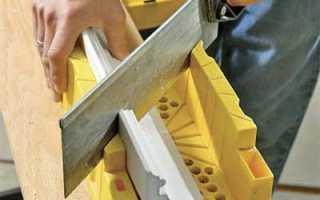 Обрезка углов багета с помощью разметки